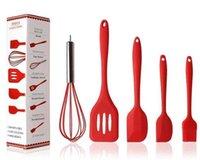 Kek araçları mutfak eşyaları yapışmaz tencere silikon pişirme aracı setleri yumurta çırpıcı spatula yağ fırçası mutfak eşyaları DHB475 ytgk