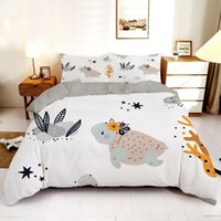 Bedding Sets Concise Luxury Duvet Cover Queen King 240x220 Size Cute Animal Printed Set Home Textiles Quilt With Pillowcase