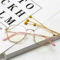 Moda Güneş Gözlüğü Çerçeveleri 2021 Tasarımcı Retro Kadın Gözlük Şöhret Optik Metal Kare Çerçeve Vintage Şeffaf Lens Gözlük Erkekler Gözlük Kadınlar