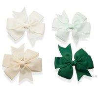 Partito favorisce diversi colori 3 pollici carino nastro a costine nastri archi con clip baby girl hairpin boutique hwe5655