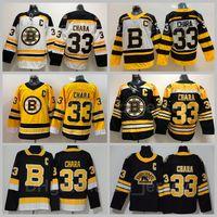 Männer Eishockey Boston Bruins 33 Zdeno Chara Jersey Reverse Retro Winter Classic Team Farbe Schwarz Gelb Weiß entfernt Alle genähten Hohe Qualität
