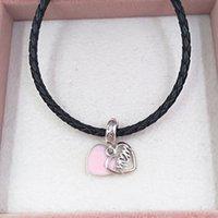 Silver jewelry making kit pandora Mum Script Heart Dangle charms DIY ojo bracelet for women mens couples chain beads bangle crystal necklaces spiritual 798887C01