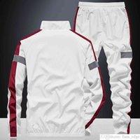 Sonbahar Çift Casual Suit Erkekler Mans Ince Kore Tarzı Standı Yaka Ceket Bahar Ve Sonbahar Yakışıklı Spor İki Parçalı Suit Moda