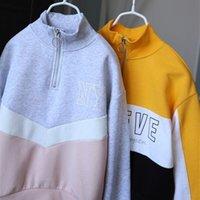 Детский повседневный алфавит средняя воротник воротник пуловер свитер мальчики девочки девочки студентами спортивная одежда с 8 до 14 лет WallVell 201126