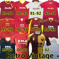 As Roma Retro soccer jerseys 1989 91 92 93 94 95 96 97 98 99 00 Сравнить с подобными элементами Поло рубашка поглощение, дышащая и легкая в сухом стиле спорт стиль лета rome