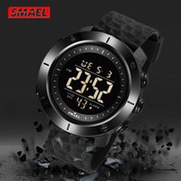 Mens Digital Watches Men Chronograph Led Rubber Watchband Display Multifunction Black Sport Wrist Watch Waterproof Clock Wristwatches
