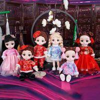 Куклы yohey barbie сустав перемещение маленькая девочка принцесса детская игрушка набор платья юбка на день рождения подарок