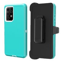 Color Defender case for iPhone 12 pro max 11 pro XS XR with clip Armor Heavy Duty Shockproof cover Moto g play 2021 g power Samsung A12 A32 A52 5G