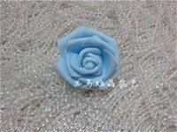 Commercio all'ingrosso di alta qualità 100 pz / lotto 7 cm schiuma rosa teste artificiali beower teste teste menta verde tiffany fiori blu decorazione di nozze 764 R2