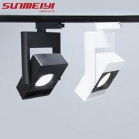 Track Lights COB Led Light Spot Lamp 360 Angle Adjustable Modern Wall Spotlight For Indoor Foyer Living Room