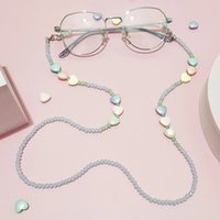 2021 Heart Crystal Glasses Sunglasses Spectacles Eyewear Chain Holder Cord Lanyard Necklace Glasses Chain Neck Strap Rope
