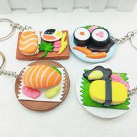 المطبخ الجديد السوشي السلمون محاكاة الغذاء مفتاح سلسلة قلادة الإبداعية هدية