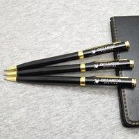 볼펜 펜 고품질 골드 클립 롤러 펜 1PC 사용자 정의 당신의 이름 텍스트 독특한 아이들 생일 반환 선물 개인화