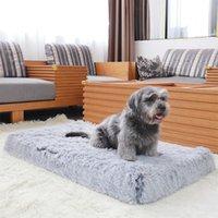Kennlar Pennor Ortopedisk Skum Hundbädd Rektangulära mattor Ultra Plush Deluxe Avtagbar Täck Barnmadrass Kudde för små stora hundkatt
