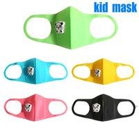 Kids sponge Mask Ship in 8 hours colorful Designer Face Mask Washable Reusable Children breather valve PM2.5 Black Mascarillas NHA5172
