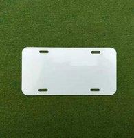 Sublimation Aluminum License Plate Blank White Aluminium Sheet DIY thermal transfer advertising plates custom 15*30cm 4holes