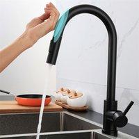 Herausziehen Sensor Küchenarmaturen SUS304 Induktion Gemischte Tap Touch Control Senke Tap