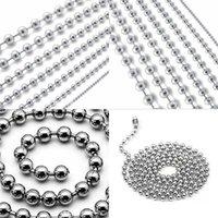100 pz / lotto 60 cm / 24 pollici in lega di metallo in lega di palla a sfera per cani Tag Pendenti con superficie specchio 552 S2