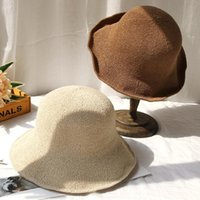 Wide Brim Hats Cotton Linen Sun Bucket Women Knitted Protection Fisherman Hat Korean Style Fold-able Fashion Breathable Accessories