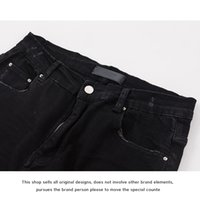CHknee for Fog hole jeans ami  ri new men and womenZHLR
