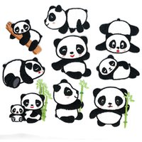 9 Styles mignon dessin animé Panda Panda Patch Vêtements Enfants Enfants Outils sur Broderie Patchs pour Vêtements Enfants Diy Applique Insignes Insignes Couture à la couture de repassage