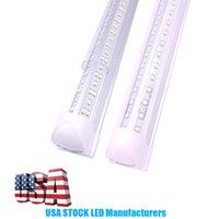 4ft Rohrleuchte 8ft 6ft 5ft 3ft 2ft 2ft integrieren V-förmig T8 LED-Röhrchen Lampe 8 Fuß 72W Kühler Türbeleuchtung SMD2835