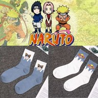 Yenilik Anime Naruto Cosplay Çorap Kadın Erkek Komik Akatsuki Bulut Yazdır Mutlu Çorap Sevimli Japon Karikatür Harajuku Long1