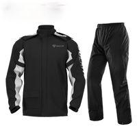 Raincoats Black Waterproof Raincoat Hiking Windproof Hoodie Suit Rains For Men Motorcycle Impermeables Household Items EI50RC