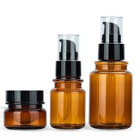 Top Grade Quality Amber PET Plastic Pump Bottles Cosmetic Containers for Lotions Balm 40ml - 170ml, 30g Jars NHB6967