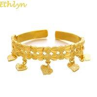 Kids Baby  Boys  Girls Jewelry Bangles Gold Color Bangle & Bracelets Ethiopian For Children Christmas Gift B066