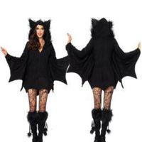 Günlük Elbiseler Artı Boyutu Yetişkin Seksi Kadın Batman Kostüm Cosplay Rol Oynama Oyunu Üniforma