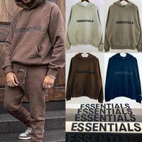 Nebel Angst vor Gott Essentials Pullover Hoodie 3D Silicon Applique Front Logo Fleece Hoodie Casual Oversize Sweatshirt Hip Hop Streetwear