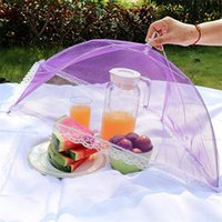 New Multi Color Pop Up Mesh Screen Food Cover Tent Umbrella Folding Outdoor Picnic Foods Covers Meshes High Quality RRD7605
