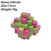 DIY 3D Madeira Kong Ming Luban Lock Desafio IQ Brain Wood Puzzle Brinquedos Estudante Matemática Toy X0522