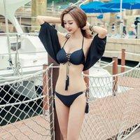 Bikini Suit Sexy Regolabile Regolabile Piccolo Cassetto Riunicato Acciaio Supporto Acciaio Sottile Camicetta a tre pezzi Costume da bagno