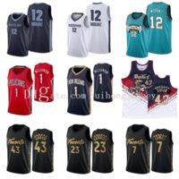 Yeni Erkek Basketbol Jersey Zion 1 Williamson JA 12 Ahlaki Pascal 43 Siakam Fred 23 Vanvleet Kyle 7 Lowry Erkekler Kolej Formaları
