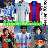 Maradona Newells Retro Futbol Formaları Napoli Maglia Camiseta Napoles Maillot Napoli Maradona Arjantin Boca Juniors 1993 1981 Erkekler Kids Kits Unifroms