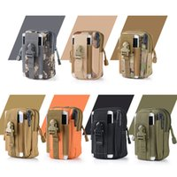 Universal Outdoor Tactical Holster Military Molle Hip Waist Belt Bag Wallet Pouch Purse Phone Cases with Zipper for iPhone Samsung LG SONY