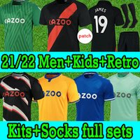 21/22 Everton Fußball Trikots Calvert-Lewin James Richarlison Allan Digne Doucoure 2021 2022 Soccer Jerseys Nkunkou Bernard Männer Kinder Socken Kit Full Set Football Shirt