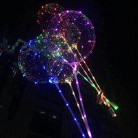 LED Bobo Balon ile 31.5 inç Sopa 3 M Dize Balon LED Işık Noel Cadılar Bayramı Doğum Günü Balonlar Parti Dekor Bobo Balonlar DWF9149