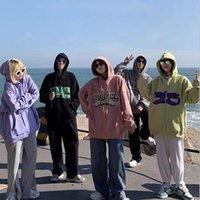 2021 Zipper Jacket Coat Men Women Hip Hop Streetwear Hoodie Letter Print Harajuku Spring Hoodies Sweatshirt Loose Unisex Size M-2XL