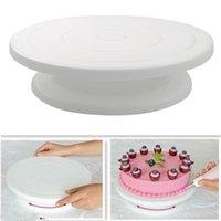 10 بوصة الدوار الدورية المضادة للانزلاق جولة موقف تزيين كعكة الروتاري الجدول المطبخ diy عموم أدوات الخبز JN9T M1CA