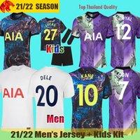 20 21 Tottenham Hotspurs Camiseta de futebol BALE NDOMBELE 2020 2021 DELE KANE SON CLARKE Camiseta de futebol spurs WINKS kit Jersey Crianças dos homens