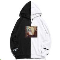 Harajuku Akatsuki Hoodie Anime Deidara Senpai Hoodie Drucken Doppel Farbe Hoodies Pullover Sweatshirt dünne Kleidung