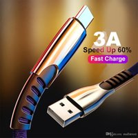 3A Çinko Alaşım Tipi C USB Veri Kablosu Kordon Hızlı Şarj Kablosu Samsung S10 için Micorusb Mikro USB Kablosu Android Telefonlar için USB Şarj Kablosu
