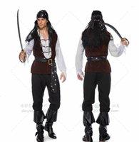 love 2021 Pearl uniform adult male Pirate Costume Pirate Costume Halloween role play game Costume_yw