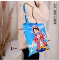 Cartoon products full color shopping bag advertisement canvas gift lady's hand