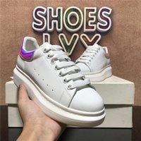 Top Quality Desinger Shoes Moda Mens Mulheres Sapato de Couro Lace Up Plataforma Superized Sole Sneakers Fluorescentes Treinadores Greencasuais com Caixa