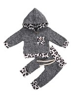 Girls 0- 12M Born Baby Boys Fall Outfit Fashion Leopard Print...