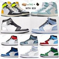 [مع صندوق] أعلى جودة جامعة الاتحاد الأزرق كرة السلة الأحذية jumpman 1 1 ثانية رجل المرأة مصمم أحذية رياضية خائفة من سبج براءات الاختراع G A0DG #